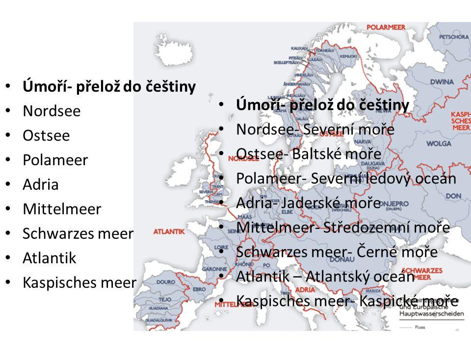 Vodstvo Úmoří- přelož do češtiny Nordsee Úmoří- přelož do češtiny