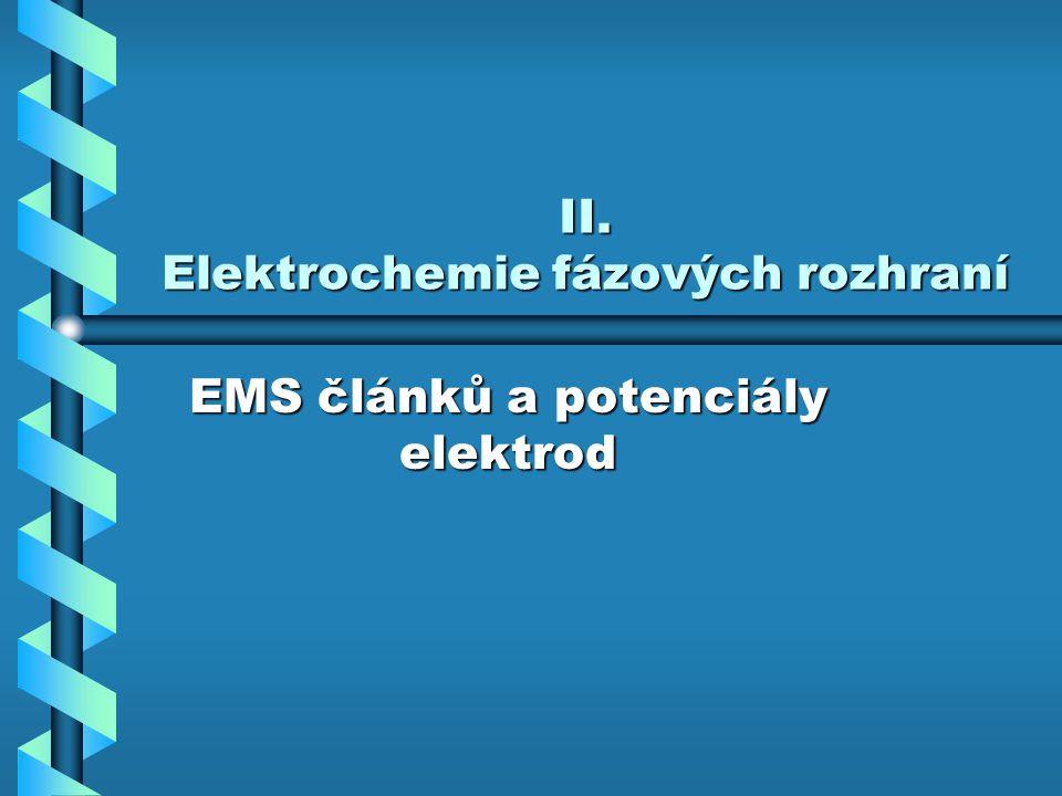 II. Elektrochemie fázových rozhraní