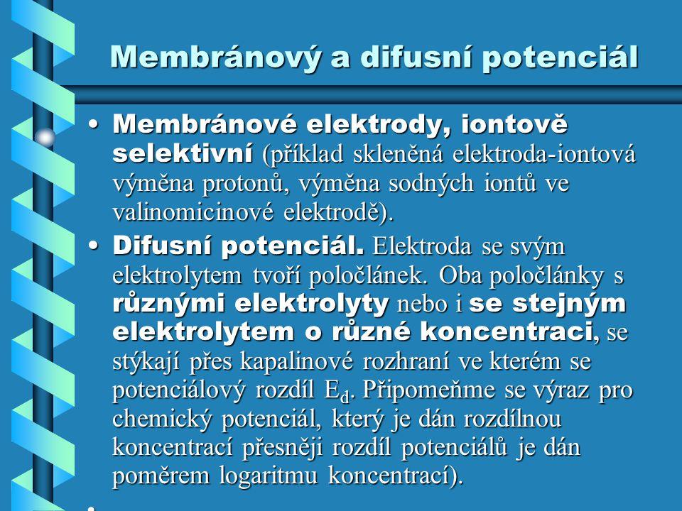 Membránový a difusní potenciál
