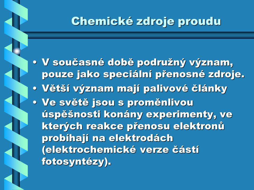 Chemické zdroje proudu