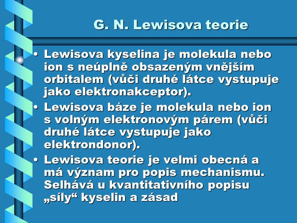 G. N. Lewisova teorie