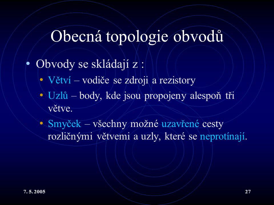 Obecná topologie obvodů