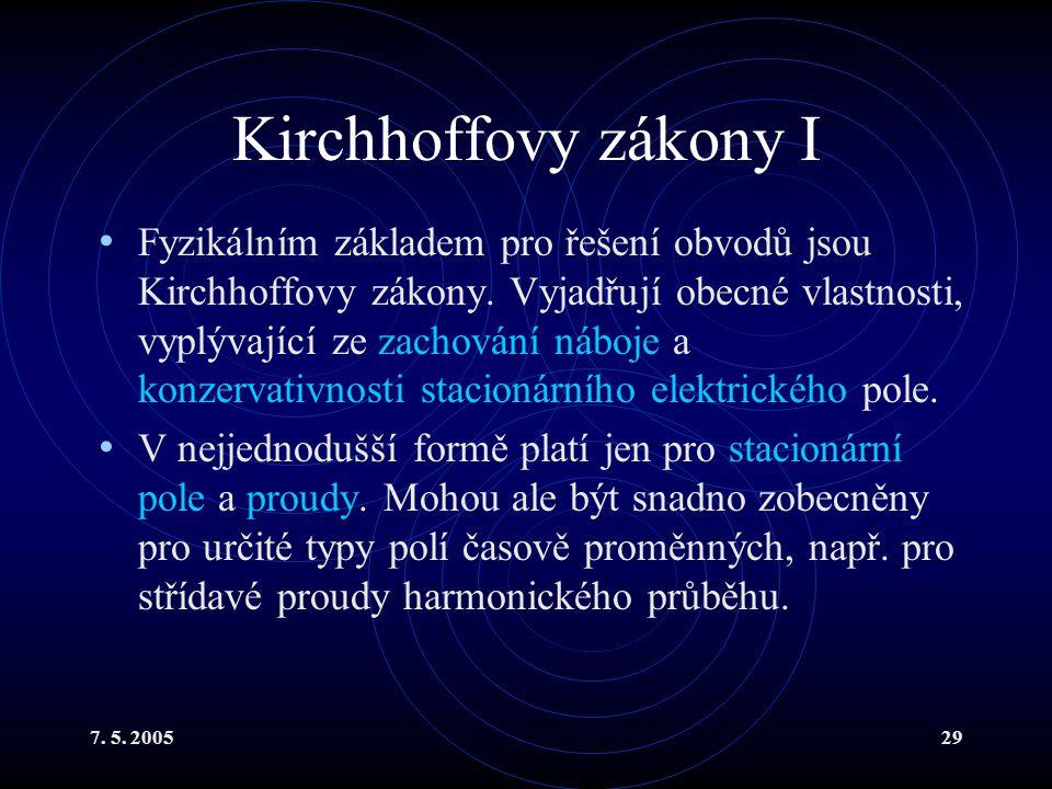 Kirchhoffovy zákony I