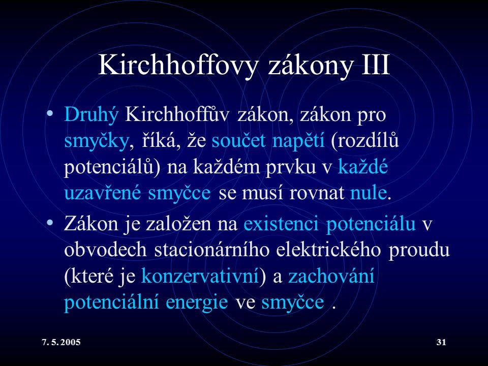 Kirchhoffovy zákony III