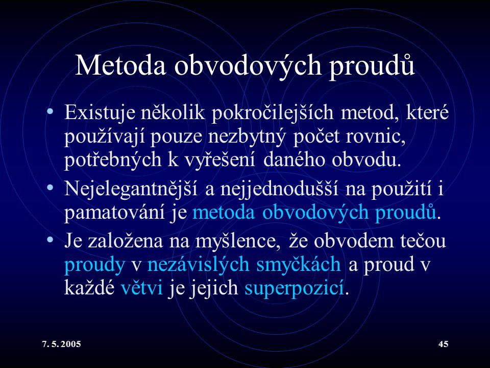 Metoda obvodových proudů