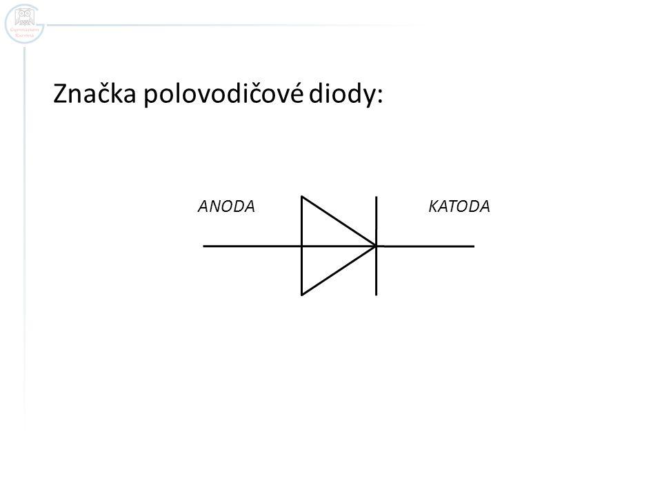 Značka polovodičové diody: