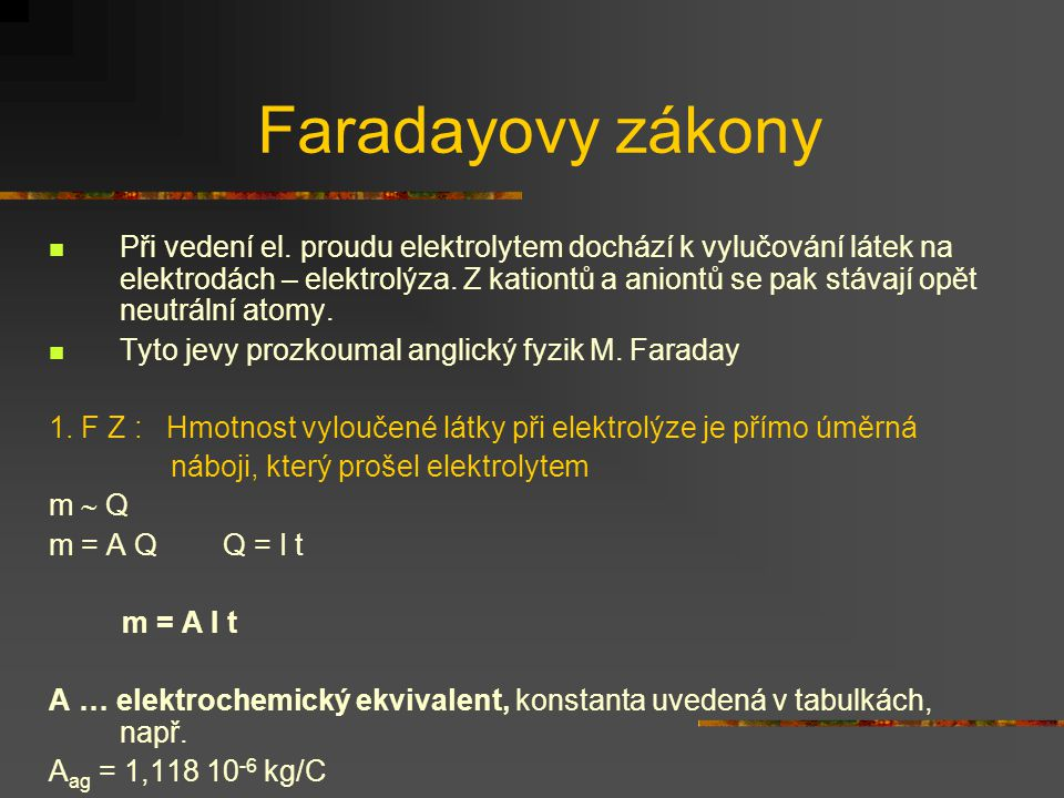 Faradayovy zákony