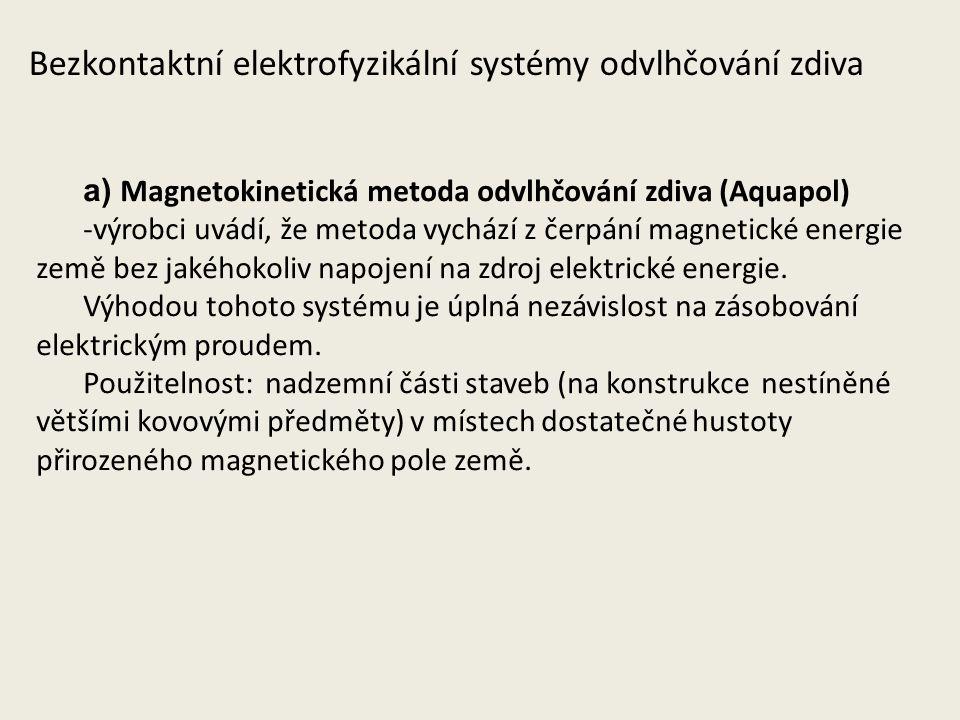 Bezkontaktní elektrofyzikální systémy odvlhčování zdiva