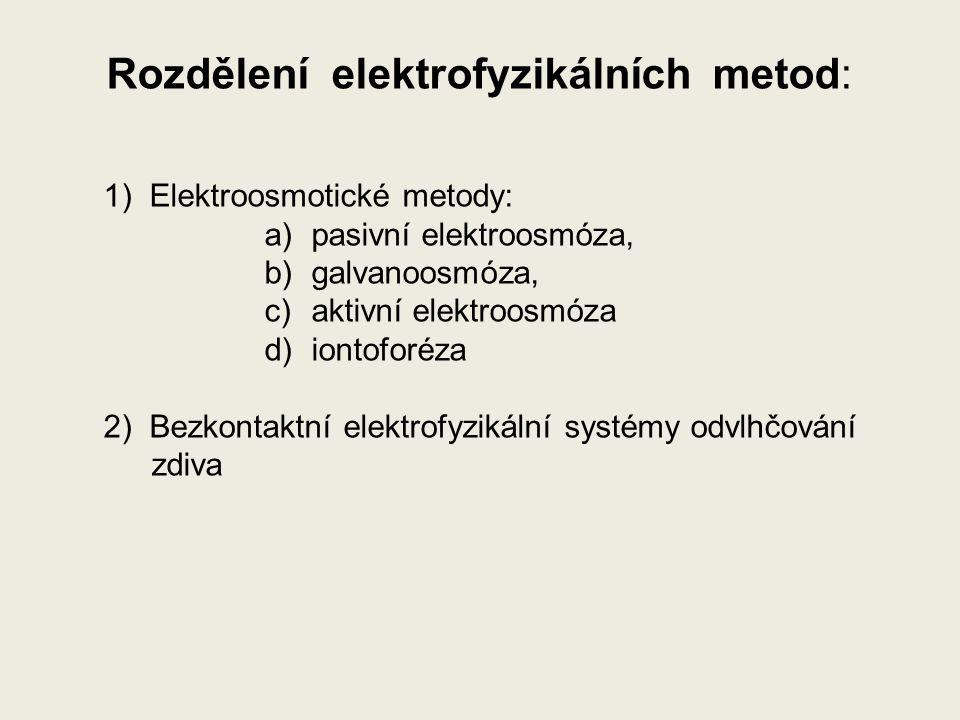 Rozdělení elektrofyzikálních metod: