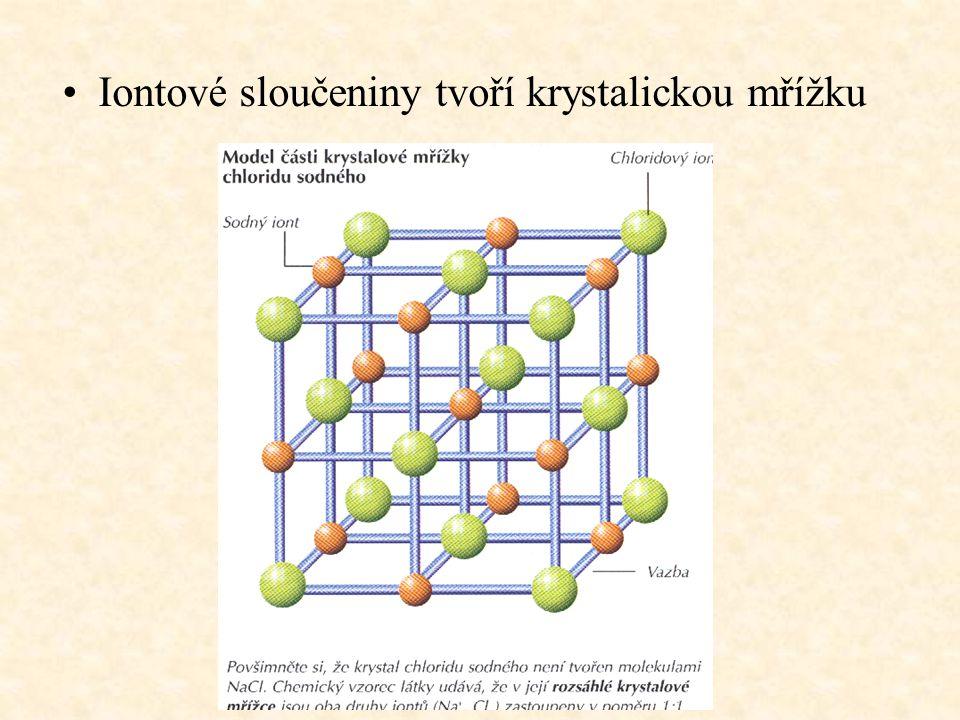 Iontové sloučeniny tvoří krystalickou mřížku