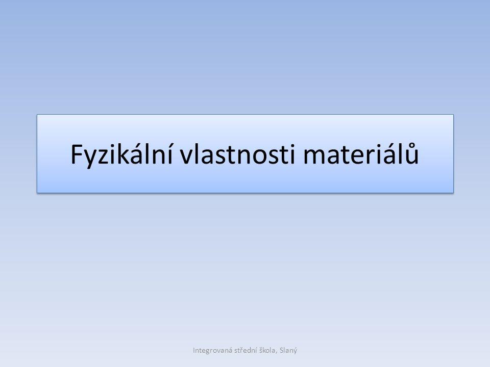 Fyzikální vlastnosti materiálů