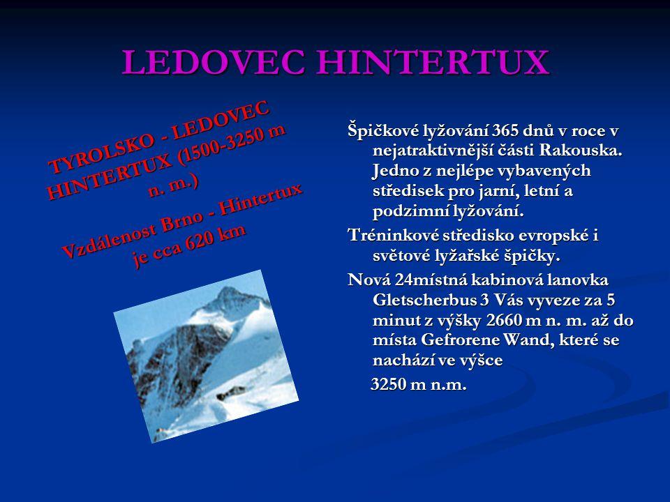 LEDOVEC HINTERTUX TYROLSKO - LEDOVEC HINTERTUX (1500-3250 m n. m.)