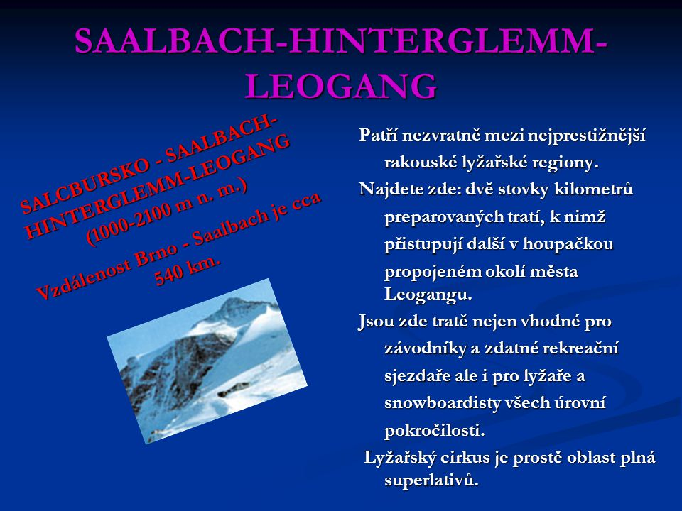 SAALBACH-HINTERGLEMM-LEOGANG