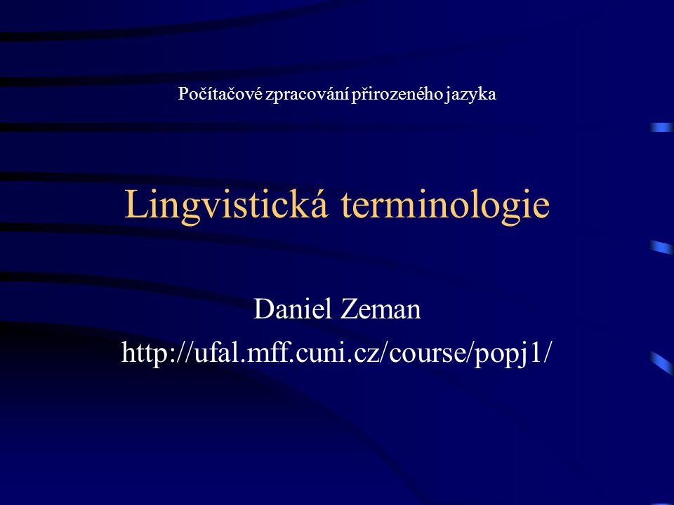 Lingvistická terminologie