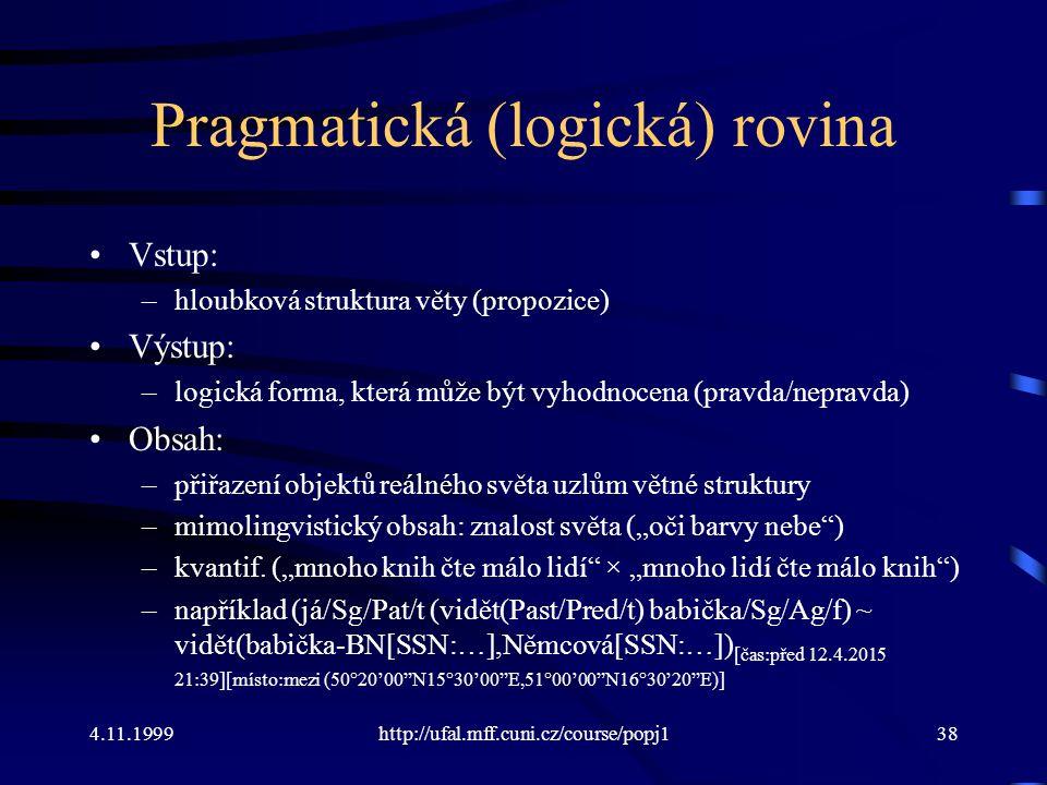 Pragmatická (logická) rovina