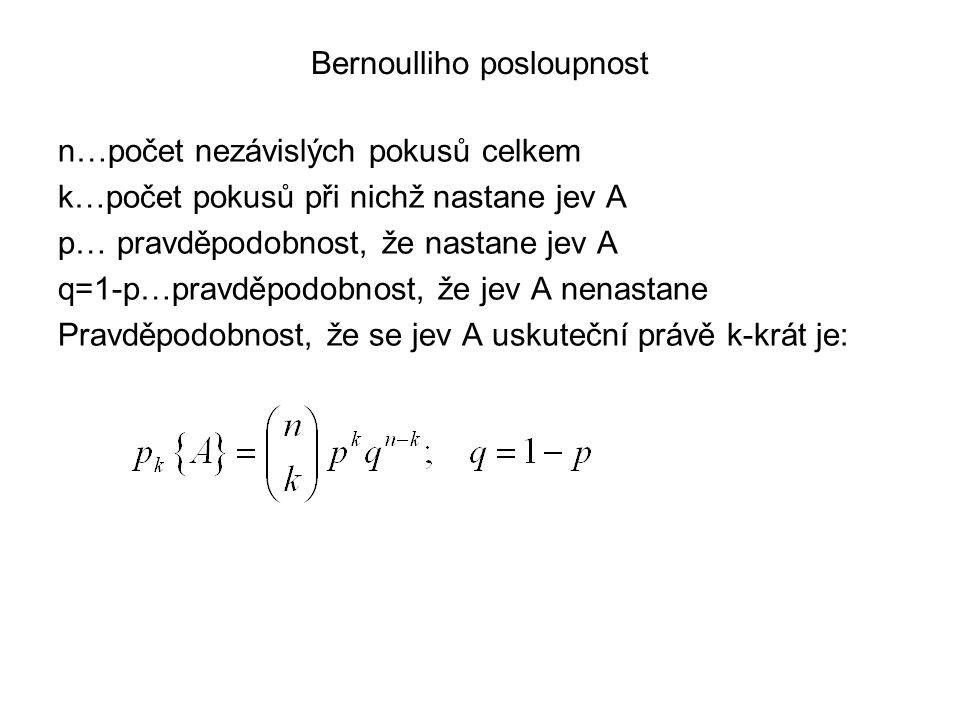 Bernoulliho posloupnost
