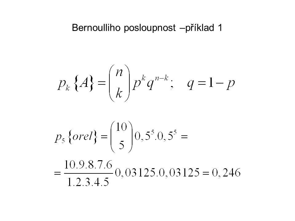 Bernoulliho posloupnost –příklad 1