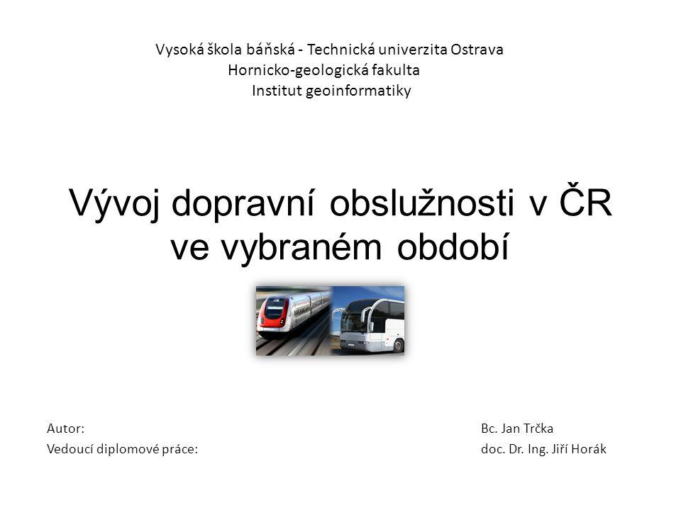 Vývoj dopravní obslužnosti v ČR ve vybraném období