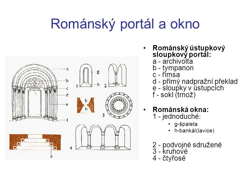 Románský portál a okno