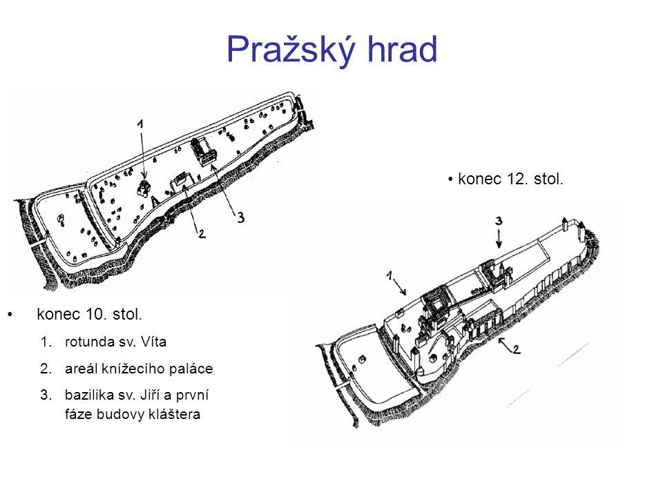 Pražský hrad konec 12. stol. konec 10. stol. rotunda sv. Víta