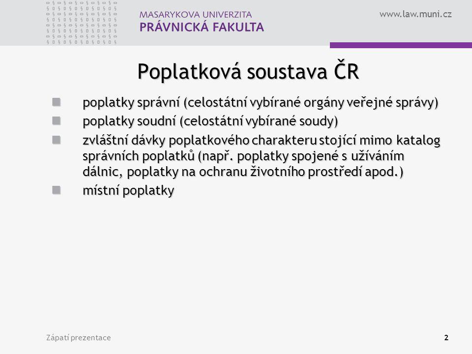Poplatková soustava ČR