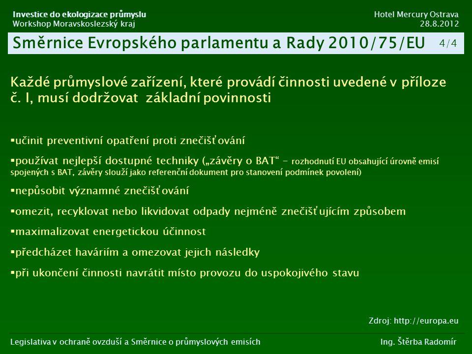 Směrnice Evropského parlamentu a Rady 2010/75/EU