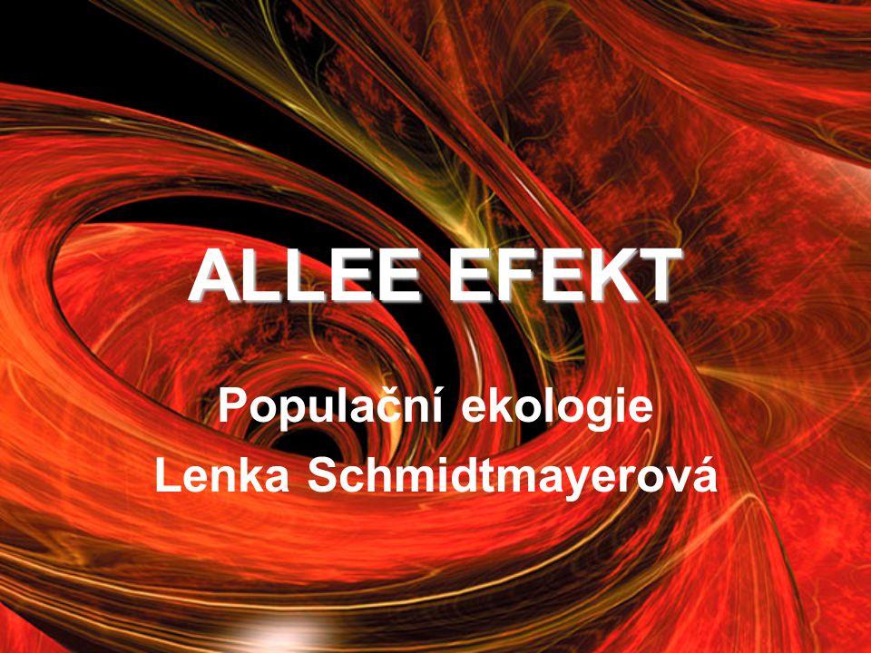 Populační ekologie Lenka Schmidtmayerová