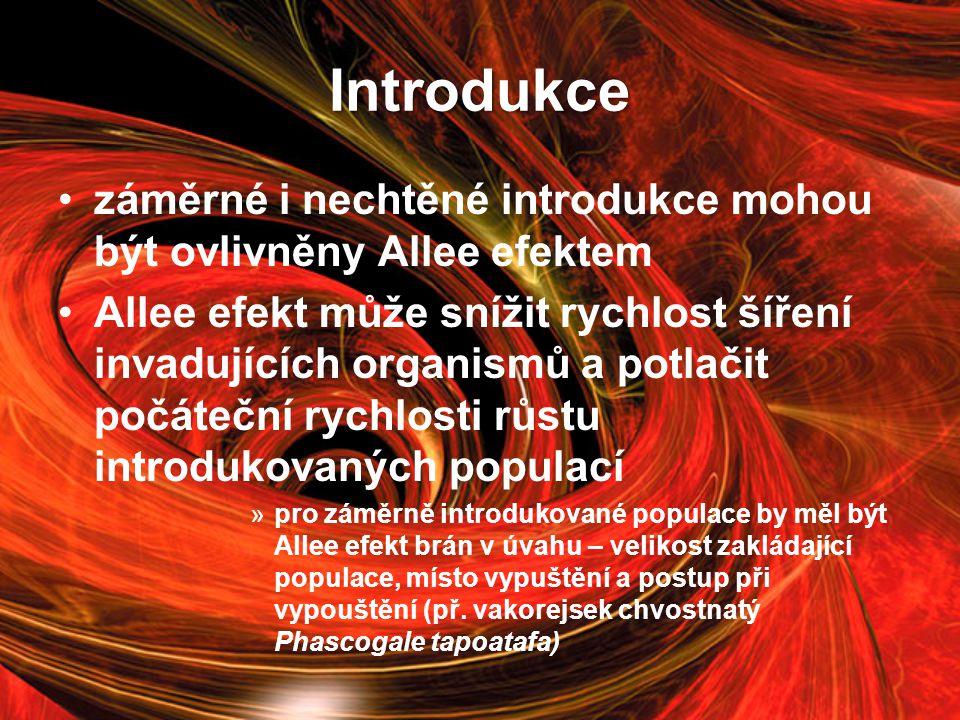 Introdukce záměrné i nechtěné introdukce mohou být ovlivněny Allee efektem.