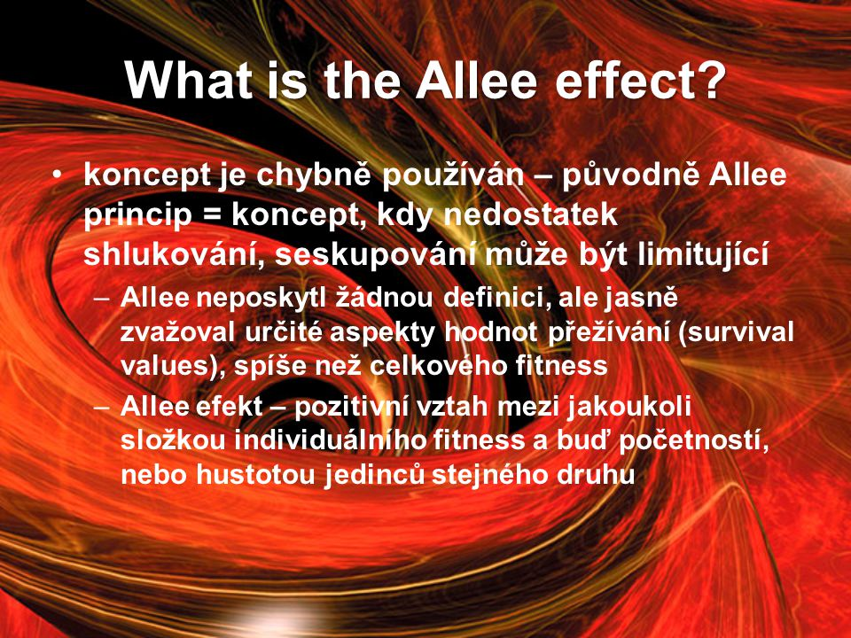 What is the Allee effect