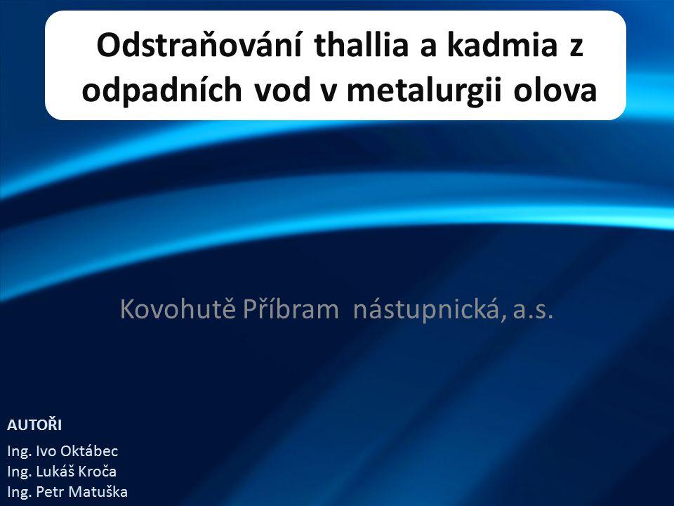 Odstraňování thallia a kadmia z odpadních vod v metalurgii olova