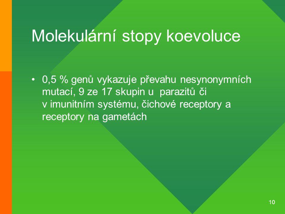Molekulární stopy koevoluce