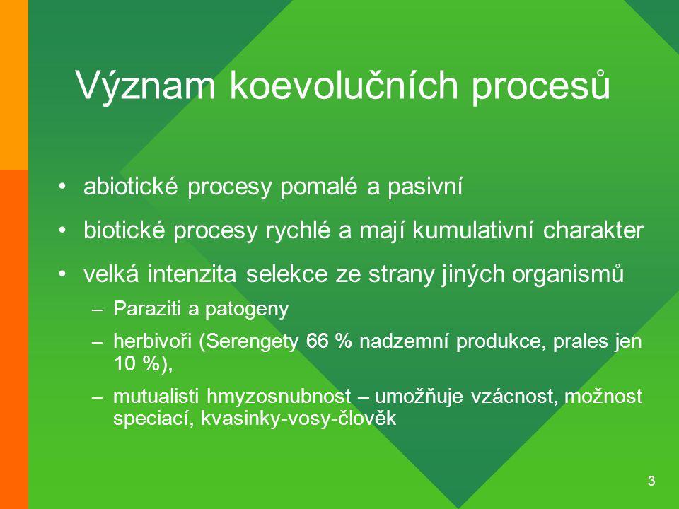 Význam koevolučních procesů