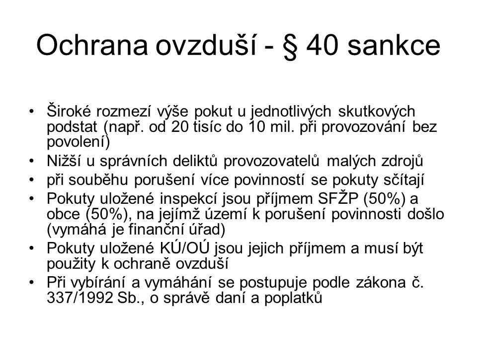 Ochrana ovzduší - § 40 sankce