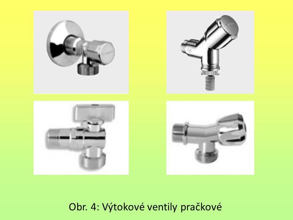 Obr. 4: Výtokové ventily pračkové