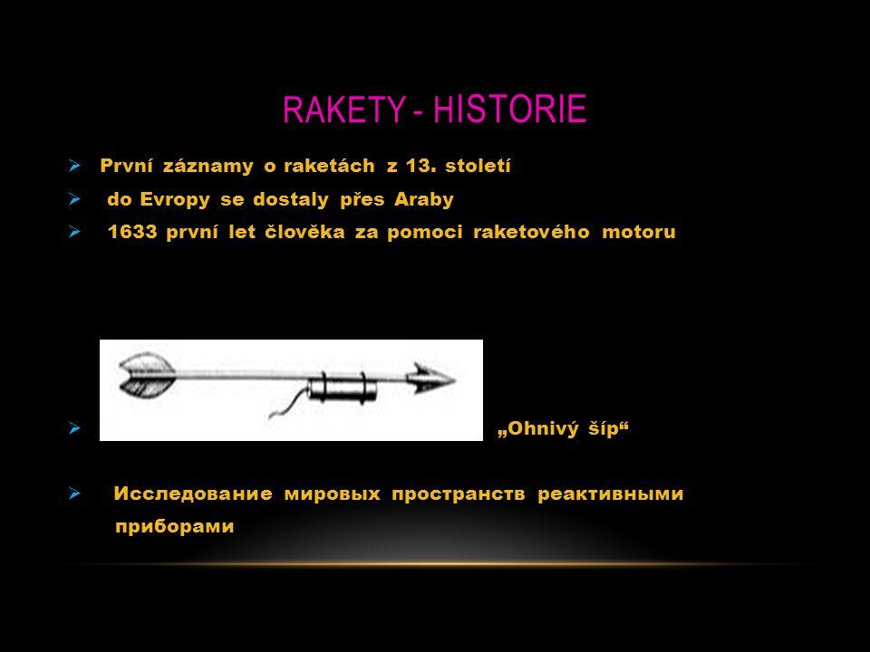 RaketY - Historie První záznamy o raketách z 13. století