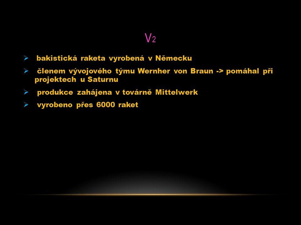 V2 bakistická raketa vyrobená v Německu