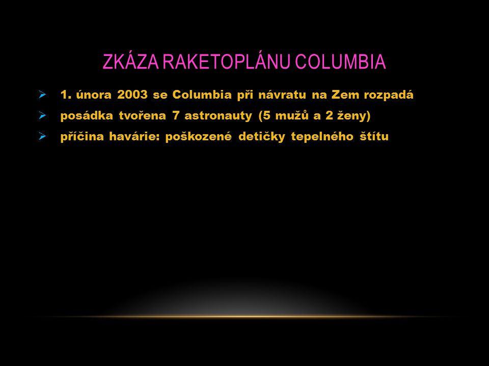 Zkáza raketoplánu Columbia