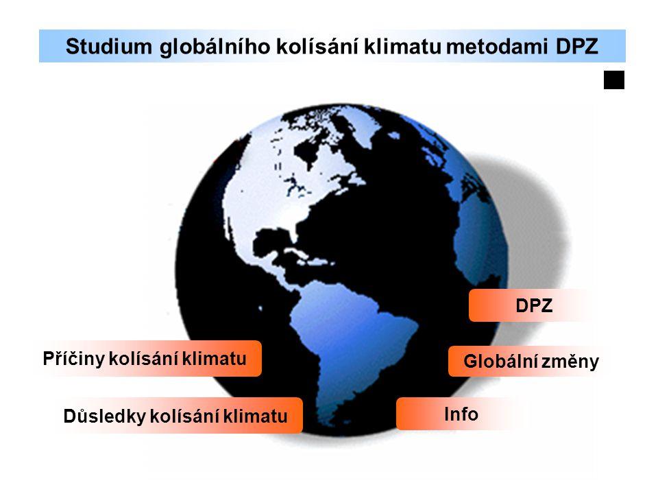 Studium globálního kolísání klimatu metodami DPZ