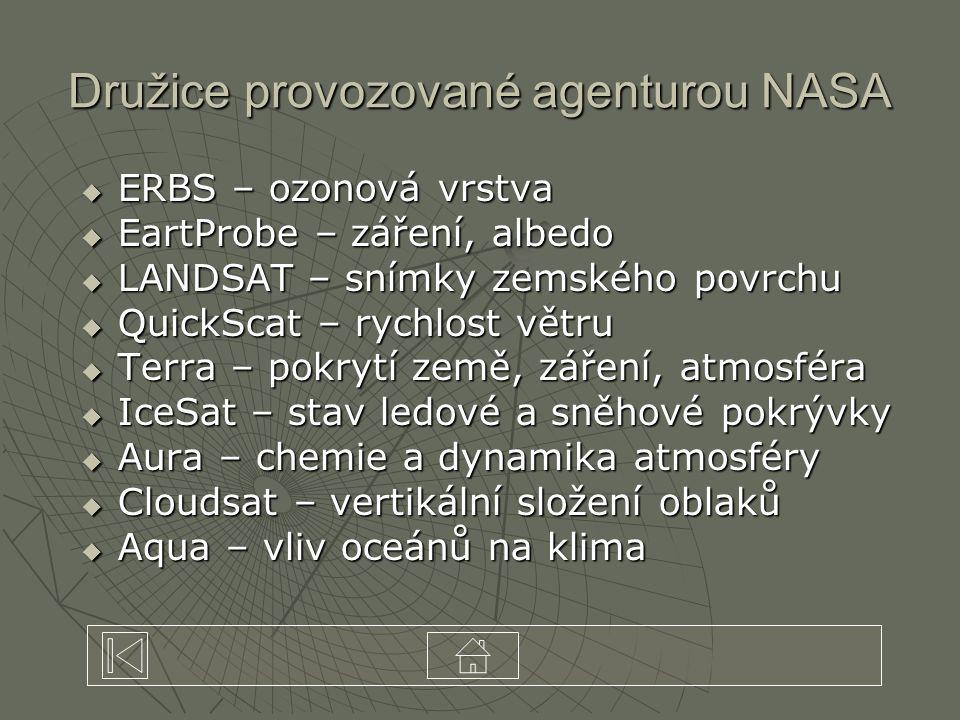 Družice provozované agenturou NASA