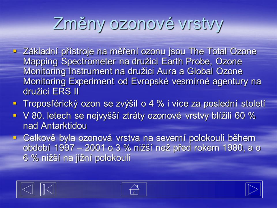 Změny ozonové vrstvy