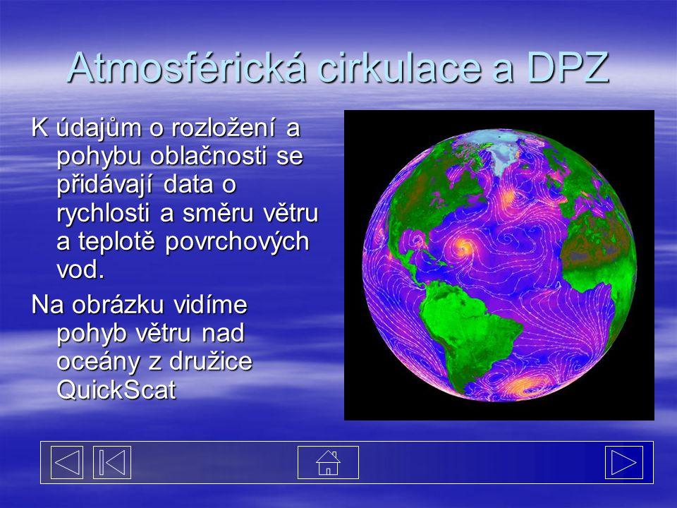 Atmosférická cirkulace a DPZ
