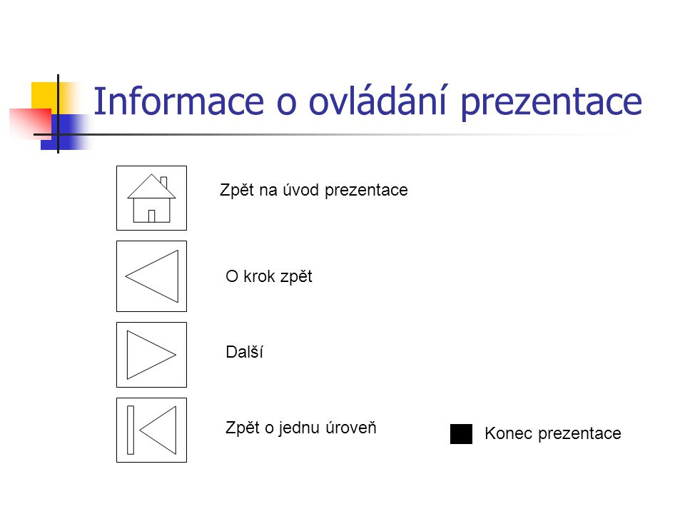 Informace o ovládání prezentace