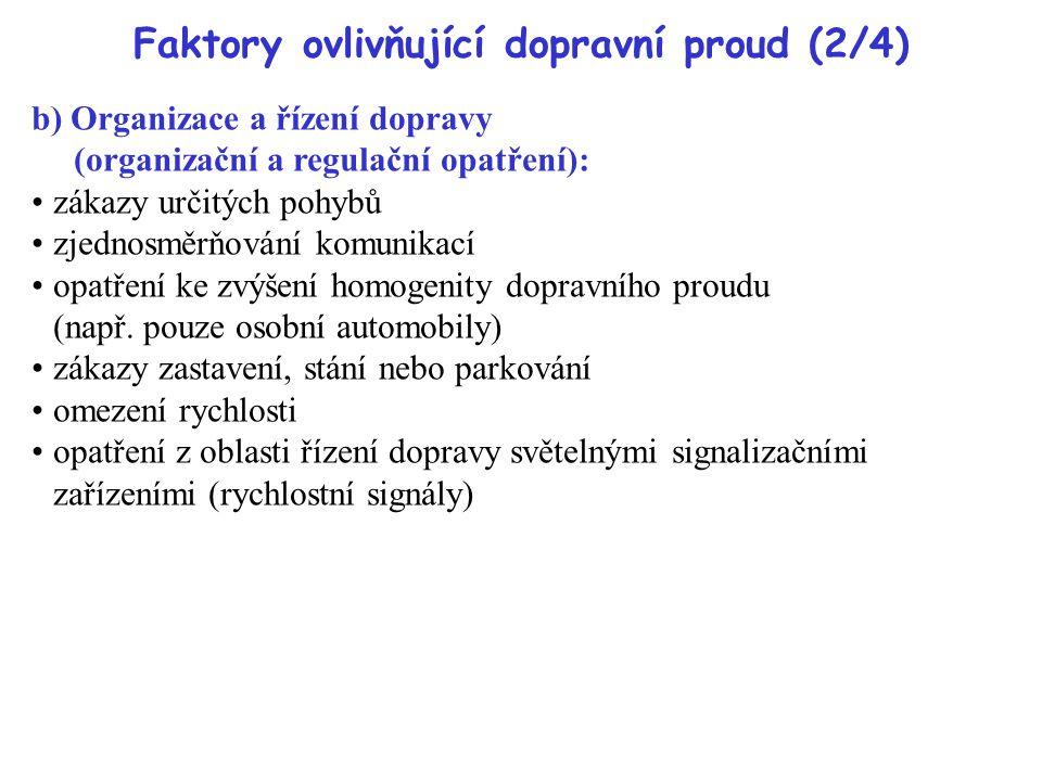 Faktory ovlivňující dopravní proud (2/4)