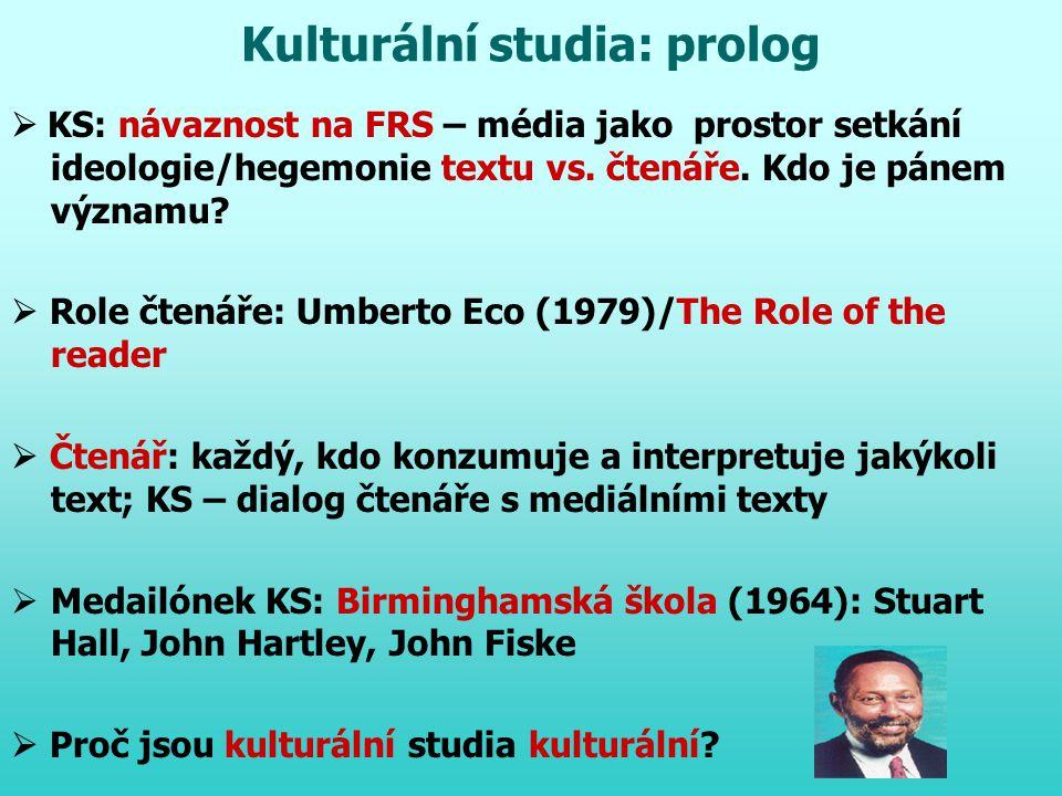 Kulturální studia: prolog