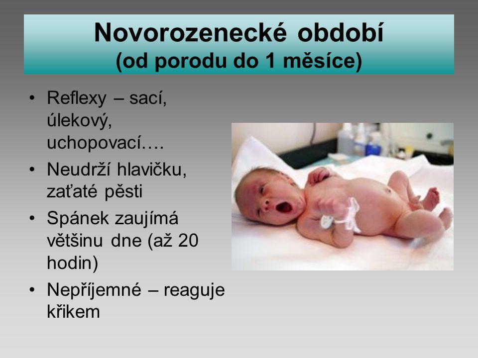 Novorozenecké období (od porodu do 1 měsíce)
