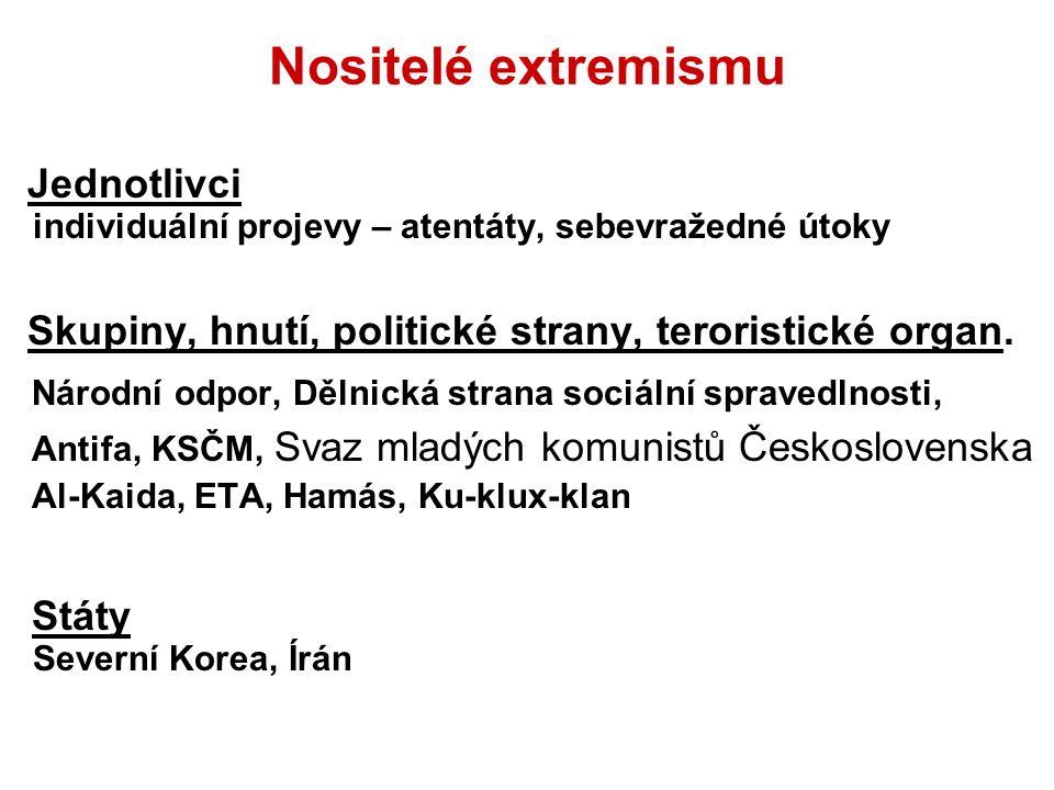 Nositelé extremismu