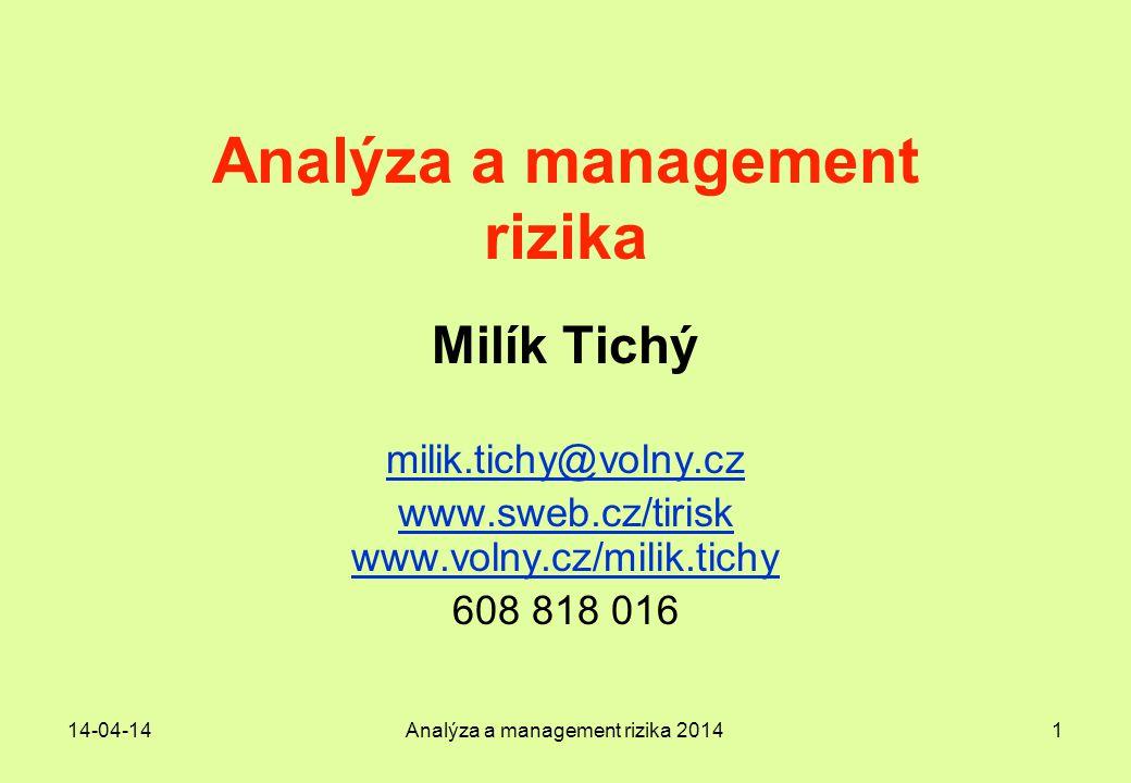 Analýza a management rizika