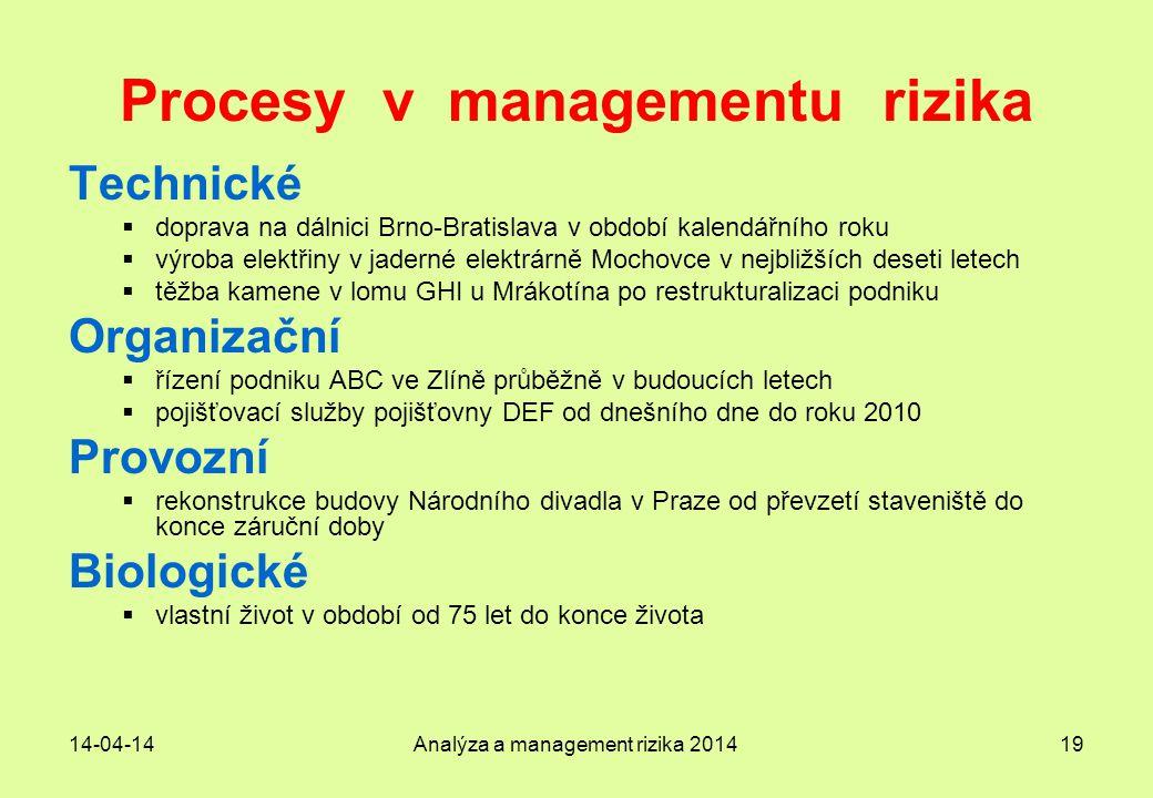 Procesy v managementu rizika
