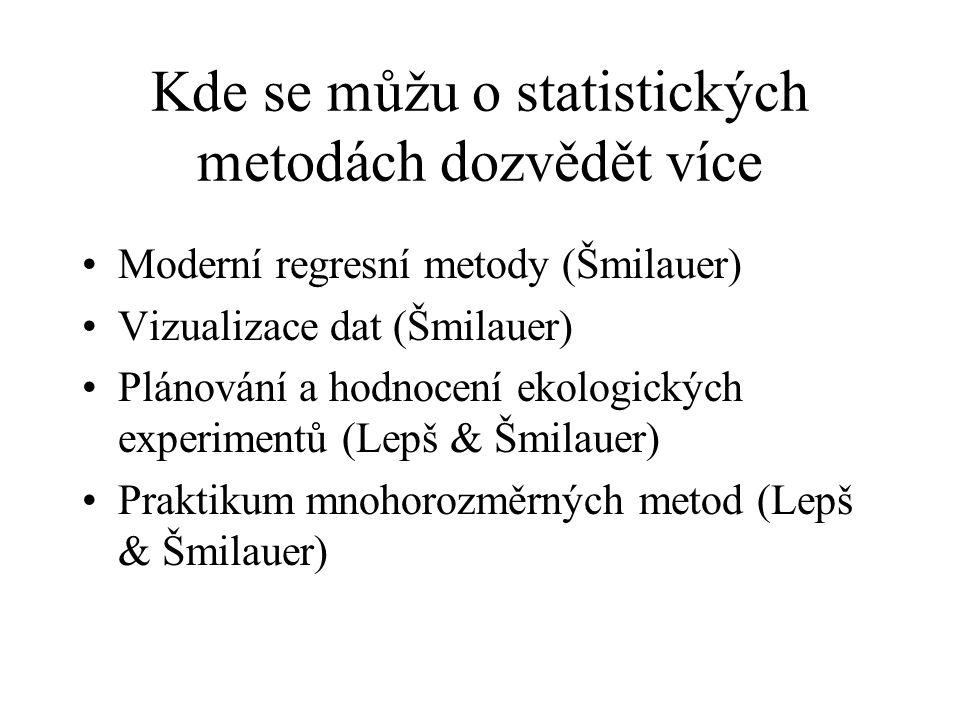 Kde se můžu o statistických metodách dozvědět více