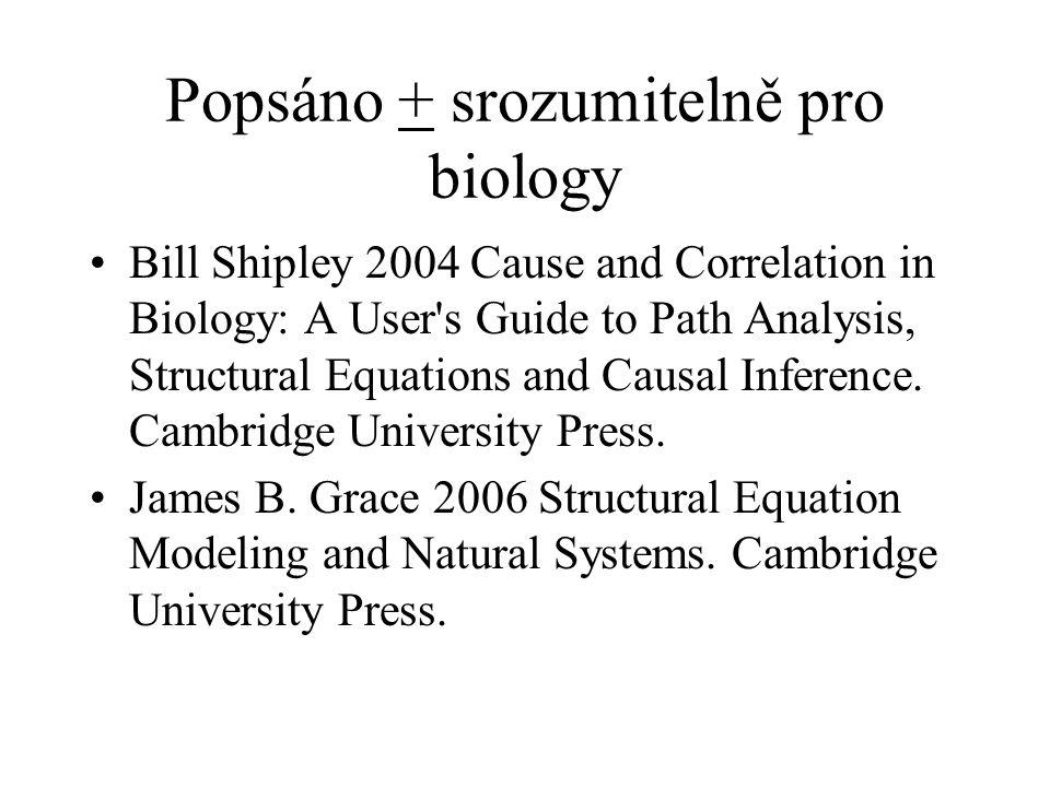 Popsáno + srozumitelně pro biology